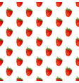 watercolor seamless pattern with strawberries vector image vector image