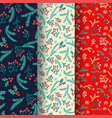 winter seamless pattern set with decorative winter vector image vector image