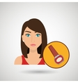 woman cosmetic nail stylist vector image