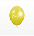 yellow balloon with text summer vector image vector image
