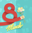 8 march international womens day Man hand holding vector image
