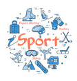 blue sport concept vector image
