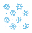 simple flat snowflakes vector image