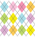 colorful and trendy baby argyle seamless pattern vector image