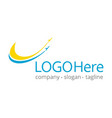 logotype about travel and flying vector image