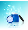 advertising poster for cosmetic product for vector image vector image