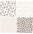 animal print seamless pattern leopard texture vector image vector image
