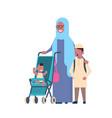 arab grandmother with baby grandchildren in vector image vector image