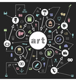 Art the scheme vector image vector image