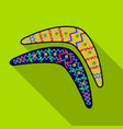 australian boomerang icon in flat style isolated vector image vector image