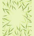 bamboo green leaves vector image vector image