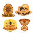 beekeeping and honey production farm products vector image