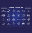 big set cyber security identity badges vector image