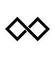 black infinity symbol icon rectangular shape with vector image vector image
