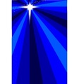 Blue Christmas Star vector image vector image