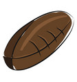 brown american football ball color on white vector image