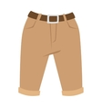 Brown shorts silhouettes on white Casual vector image
