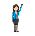 business woman politician character standing vector image vector image