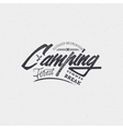 Camping sign handmade differences made using vector image