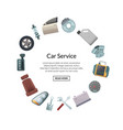 car parts in circle shape with place vector image vector image