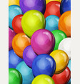 carnival party balloons background vector image