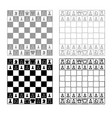 chessboard and chess pieces line figures icon vector image