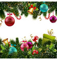 Christmas decoration border vector image vector image