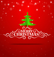Christmas lettering greetings card with origami vector image vector image
