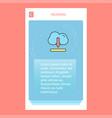 cloud downloading mobile vertical banner design vector image vector image