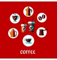 Coffee drink flat concept vector image