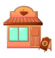 coffee shop icon cartoon style vector image