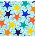colorful starfish pattern with stripes vector image vector image