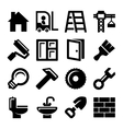 Construction Icons Set on White Background vector image vector image