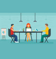 coworking concept banner flat style vector image