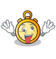 crazy chronometer character cartoon style vector image vector image