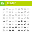 ecology line web glyph icons vector image