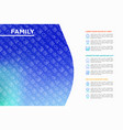 family concept with thin line icons vector image