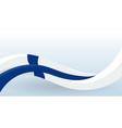 finland waving national flag modern unusual shape vector image