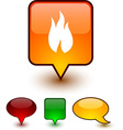 Fire speech comic icons vector image vector image