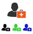 first aid man flat icon vector image