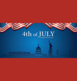 flag united states america 4th july vector image vector image