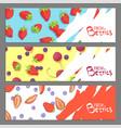 fresh berries banners vector image