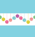 fun set of hanging pastel colorful birthday vector image vector image