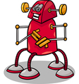 funny robot or droid cartoon vector image vector image