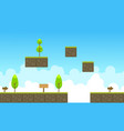game background of sky landscape style vector image vector image