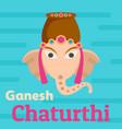 ganesh chaturthi background flat style vector image