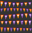 Halloween hanging flags with different symbols vector image vector image