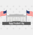 happy presidents day poster with american flag vector image