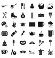 hot coffee icons set simple style vector image vector image