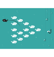 image of fish and hook and bait vector image vector image